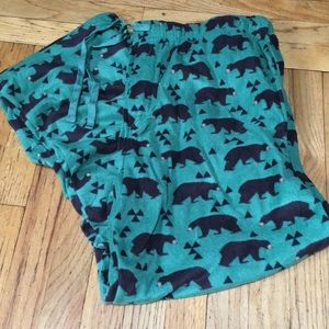 Other - Green bears men's XL fleece pj pants NWOT